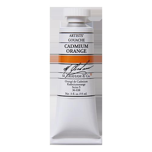 M Graham Artists Paint Gouache Cadmium Orange 038